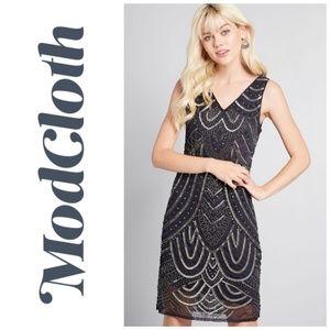 Modcloth Roaring Revival Beaded Flapper Dress